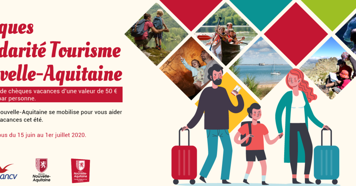 Découvrez l'opération « Chèques Solidarité Tourisme » lancée par la @NvelleAquitaine. Inscription jusqu'au 15 juillet. Infos par ici 👇#Lormont #solidarité #tourisme #NouvelleAquitaine #aide #famille nouvelle-aquitaine-tourisme.com/fr/campagne/ch…