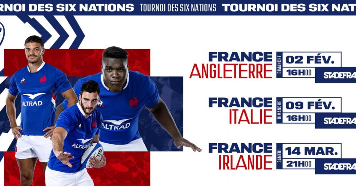 Le calendrier et la diffusion des matchs du tournoi des 6 nations