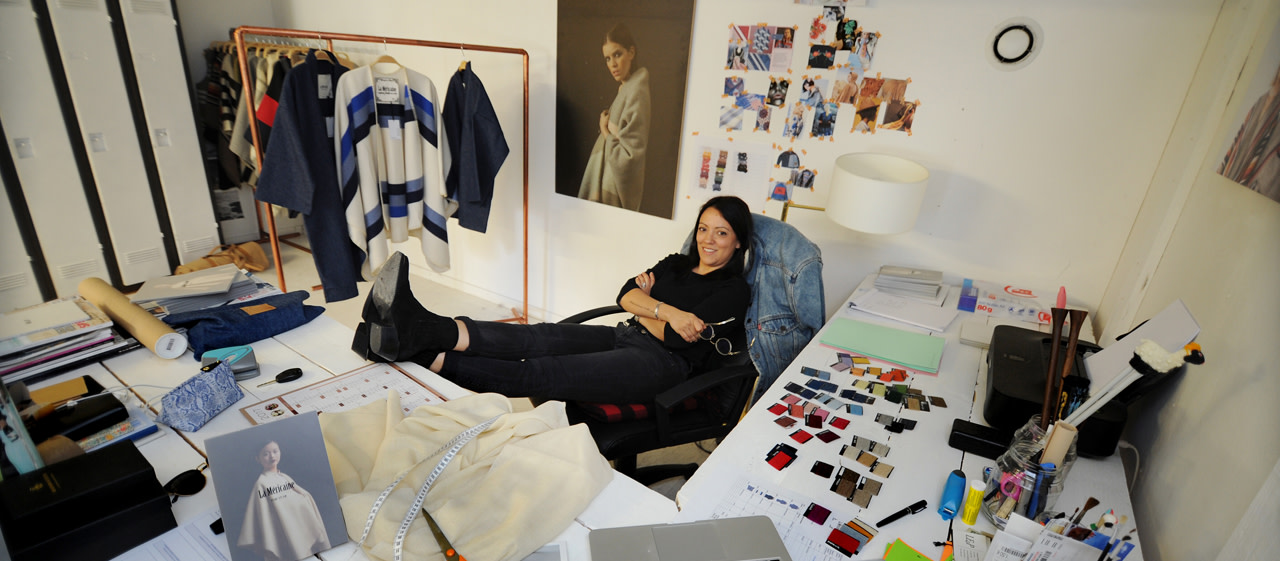 Valérie Hernandez, creator of the La Méricaine brand, based in Hossegor in the Landes.