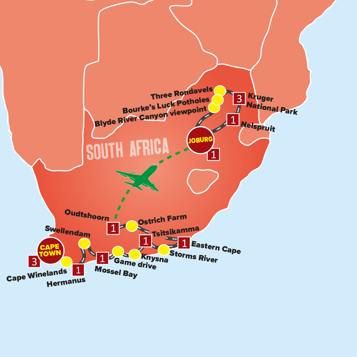 Panorama Route South Africa Map.South Africa Tours Safari Holiday Packages Expat Explore Travel