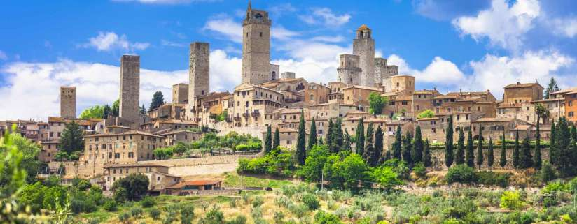 San Gimignano - Siena - Rome