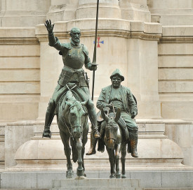 Don Quixote statue in Madrid