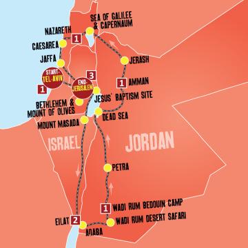 Highlights of Israel & Jordan