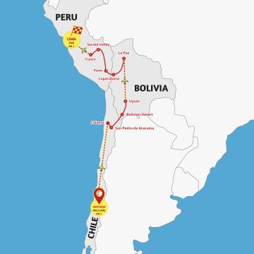 Chile to Peru Explorer - Tour Santiago to Lima