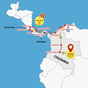 Best of Colombia, Panama and Costa Rica Tour