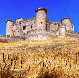 Castle in Belmonte. Cuenca, Spain