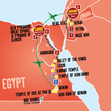 Egypt & Jordan Jewel with Nile Boat Cruise