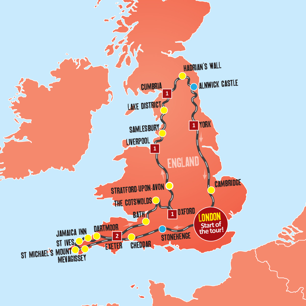 Map Of England 850.7 Days In England Taste Of England Holidays Expat Explore