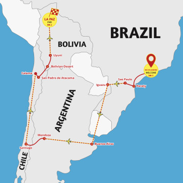 Brazil to Bolivia Adventure - Tour Rio to La Paz