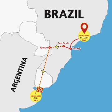 Brazil, Iguazu & Argentina Delights - Tour Rio to Buenos Aires
