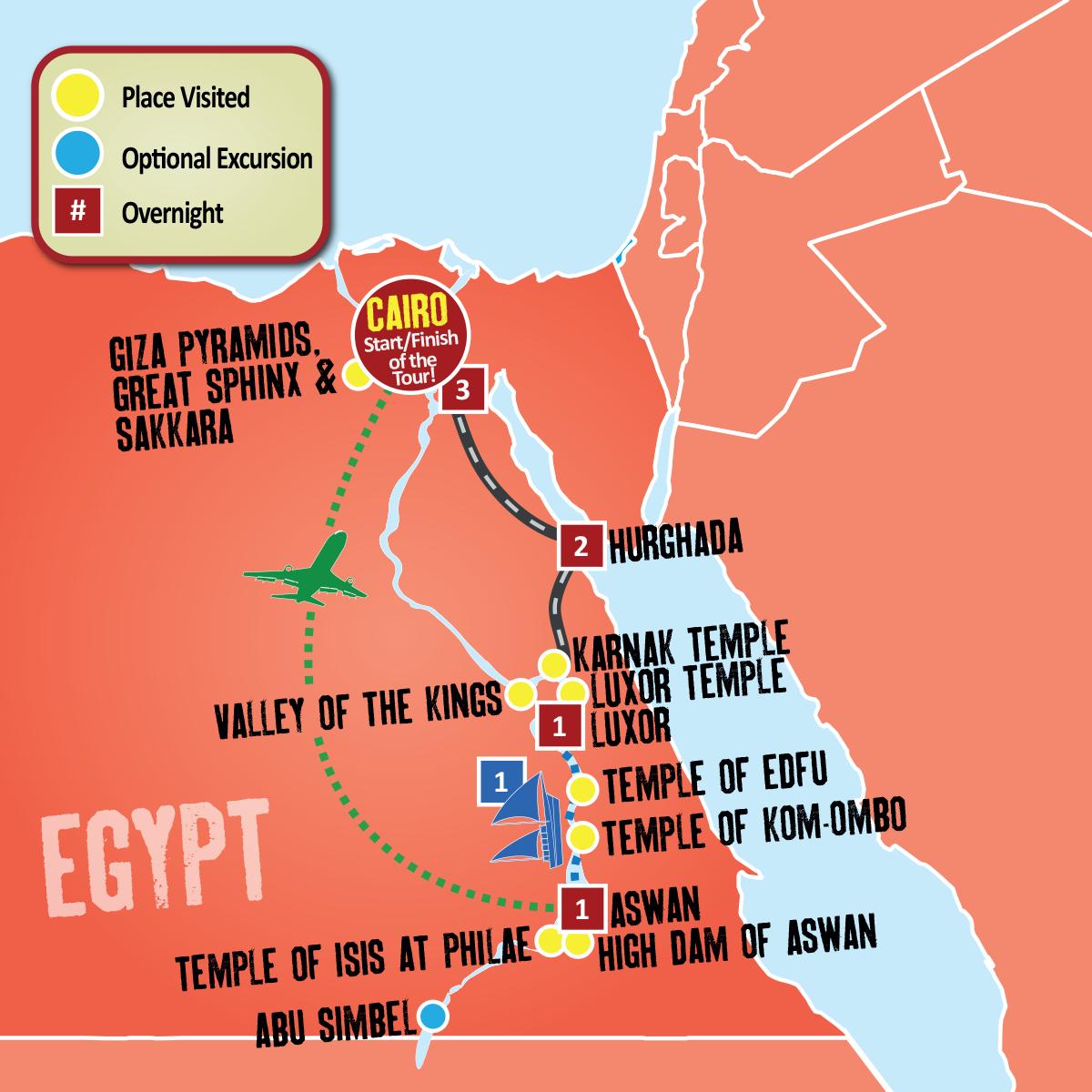 Egypt Nile Tour - Egypt Holiday Packages - Egypt Tours - Expat Explore