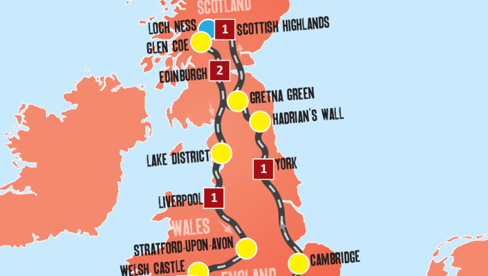 Map Of England 980 Ad.Uk Tour Packages United Kingdom Travel Expat Explore