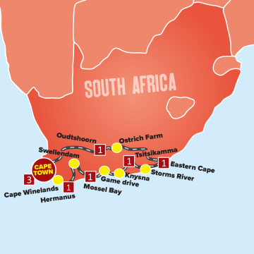 Cape Town <br>and the Garden Route