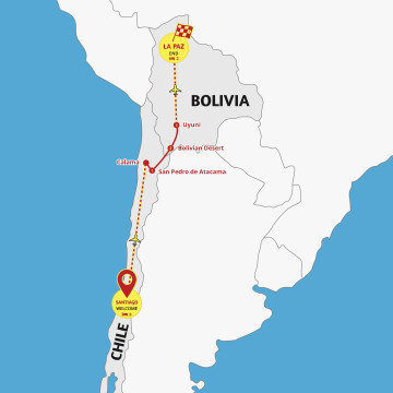 Highlights of Chile and Bolivia - Tour Santiago to La Paz