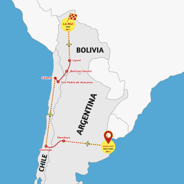 Argentina, Chile & Bolivia Jewel - Tour Buenos Aires to La Paz