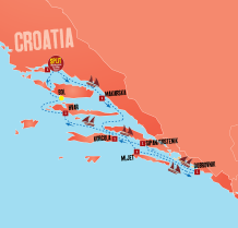 Croatia Sailing Map