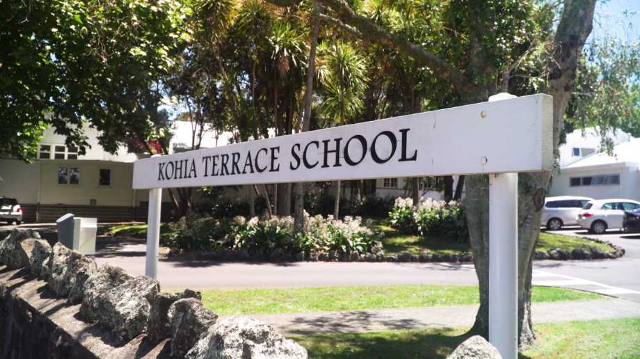 Sign outside Kohia Terrace School
