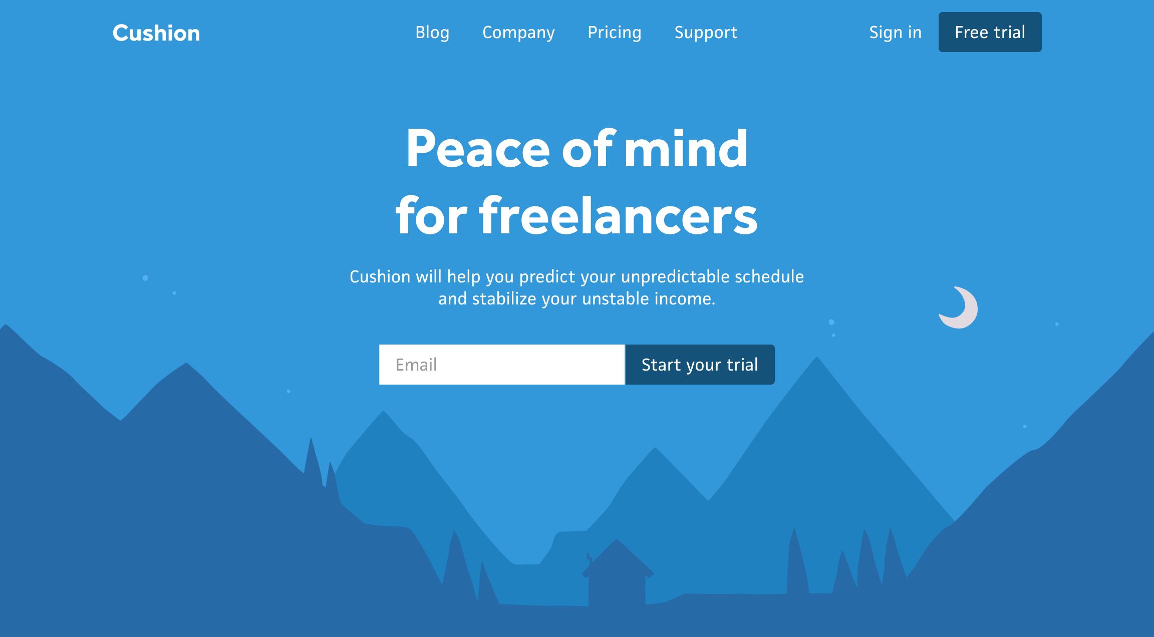 homepage hero design