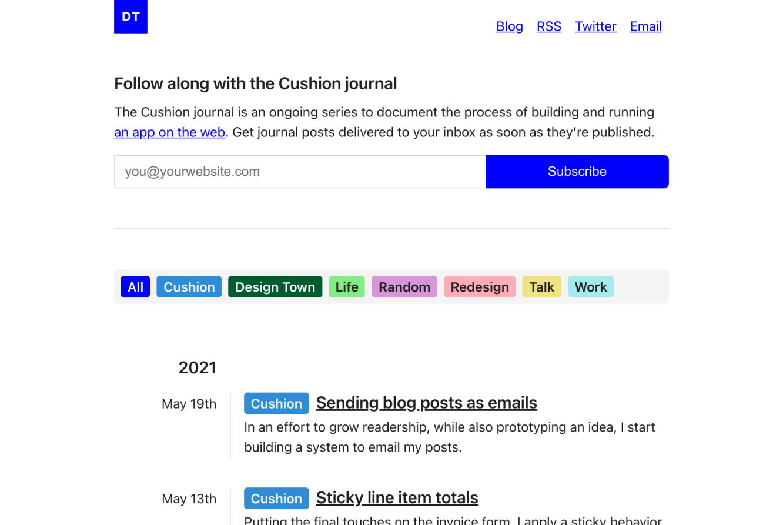blog form