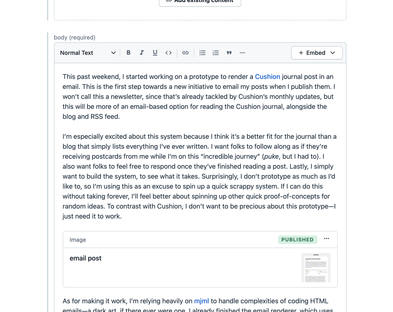contentful rich text
