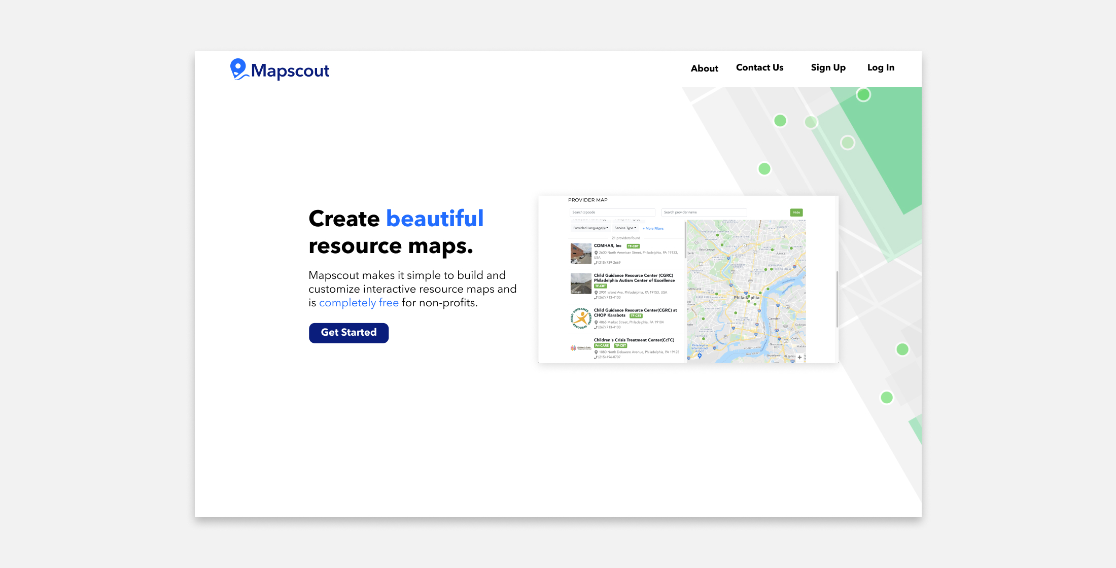 Mapscout Fall 2020: Homepage Feature