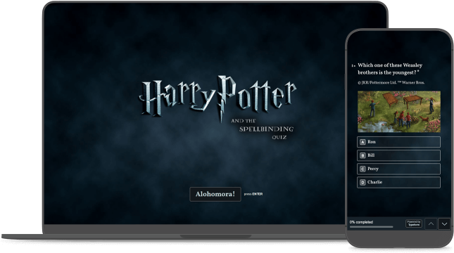 Customizable Harry Potter Trivia Quiz Template | Typeform Templates