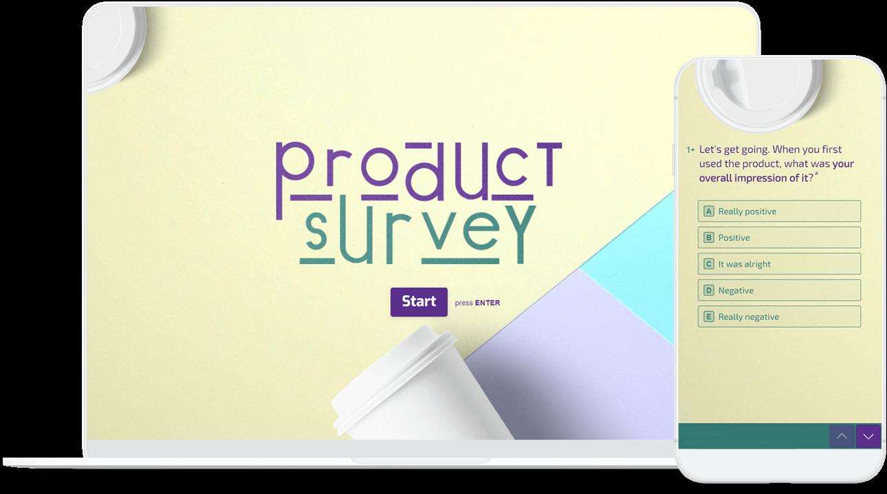 interactive product survey template typeform templates
