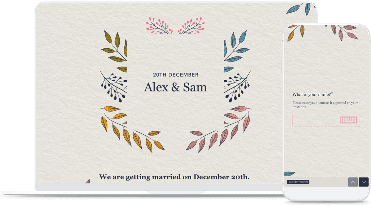 Online Wedding Invitation Template Typeform Templates