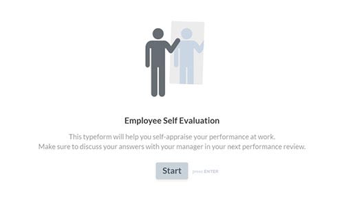 Employee Evaluation Form Template | Typeform Templates