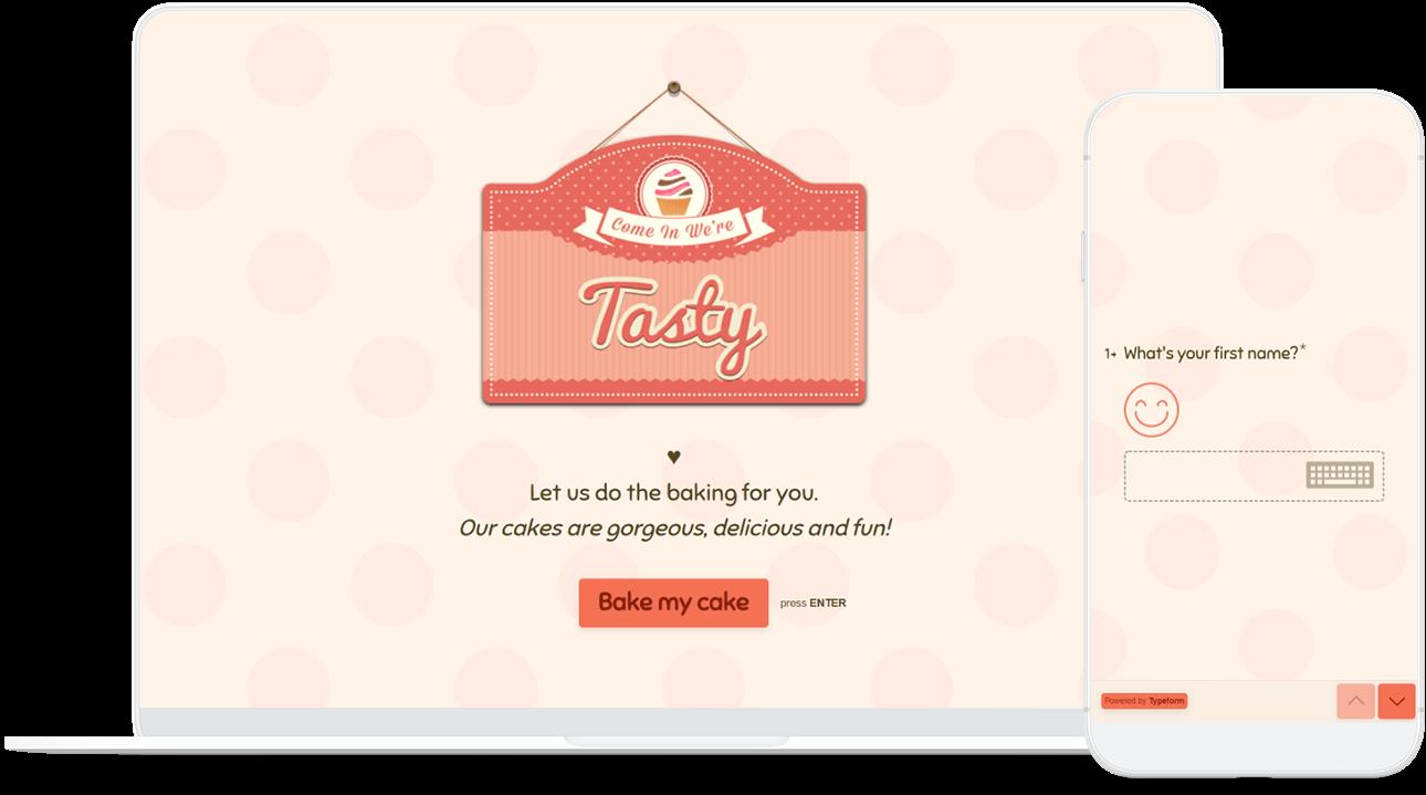 Online Cake Order Form Template Typeform Templates