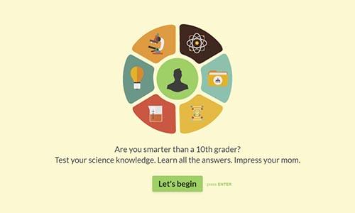Online Science Quiz Template | Typeform Templates
