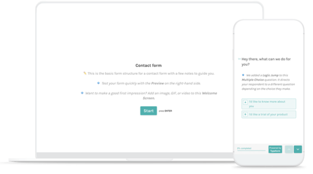 Quick-Start Contact Form Hero
