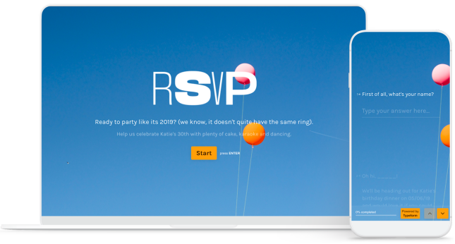 RSVP Form Template
