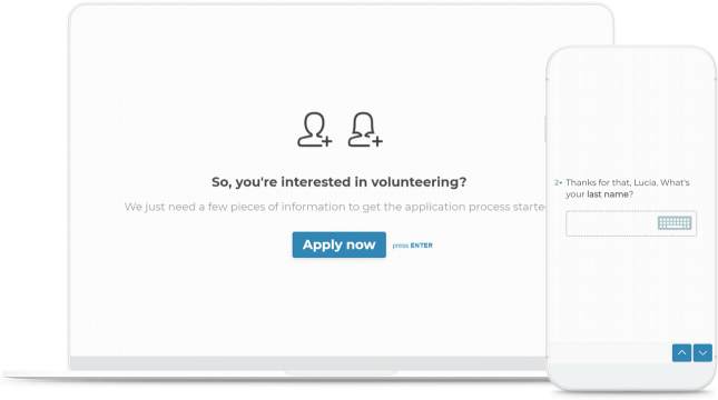device volunteer application