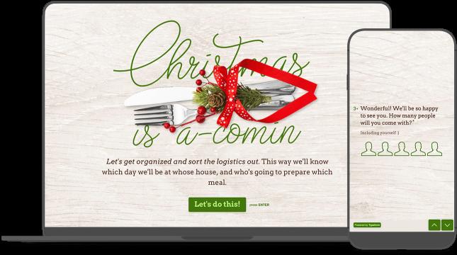 Christmas Dinner Form Planner