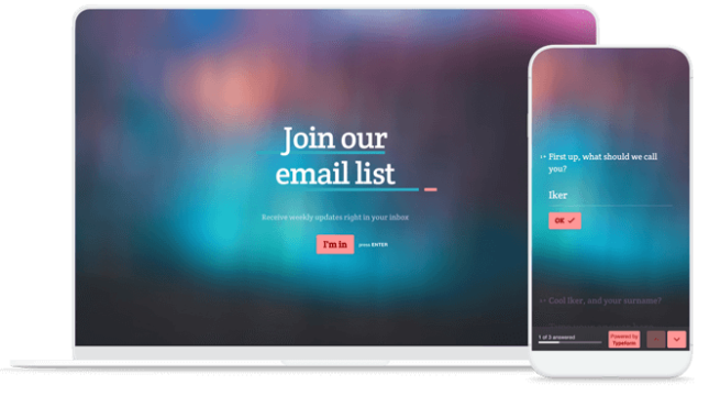 email signup devices template gallery