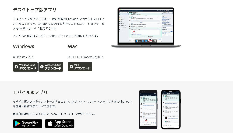 chatwork アプリダウンロード