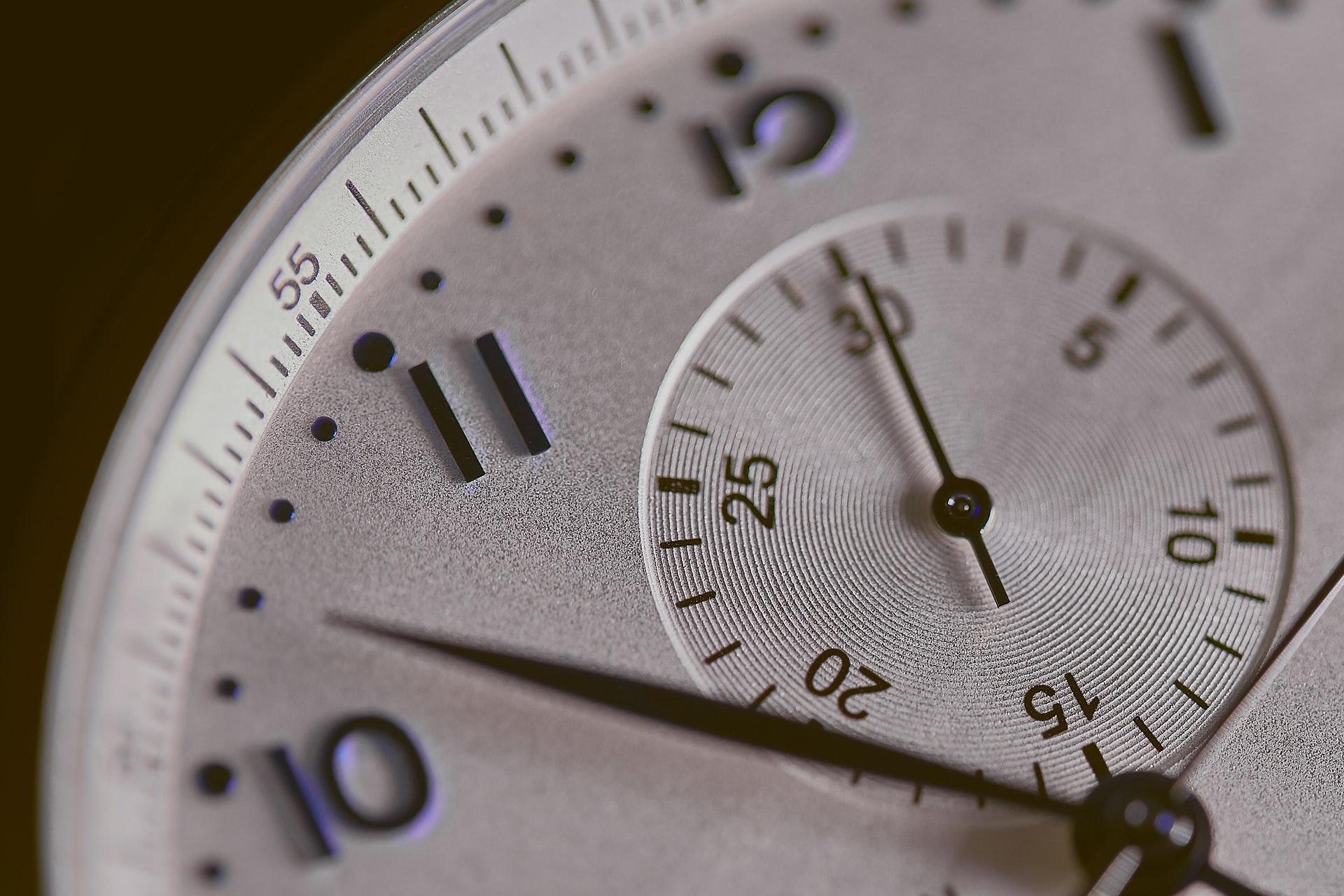 腕時計の盤面