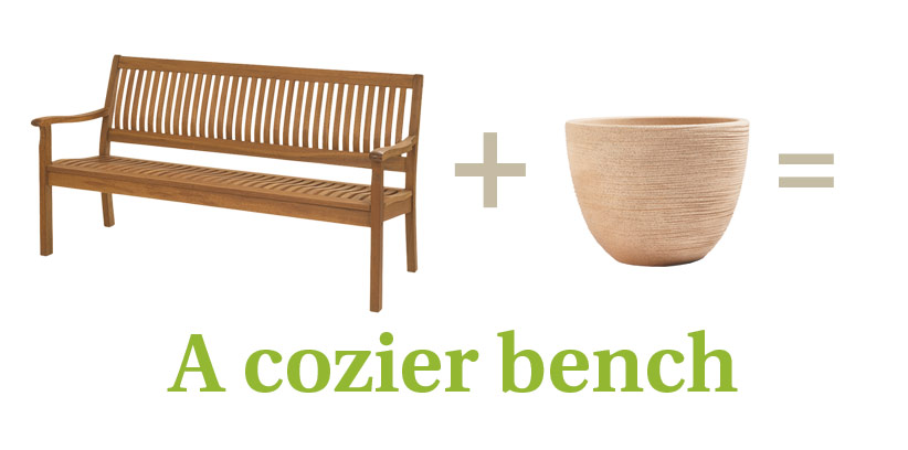 c-cozy-bench-1: Photo of bench courtesy of Gardener's Supply Co.
