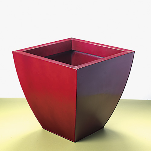 Metal garden container: You might be surprised that metal garden containers come in colors other than silver or black.