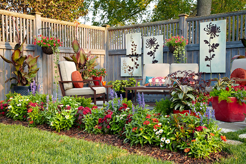 Small Space Patio Border Garden Gate