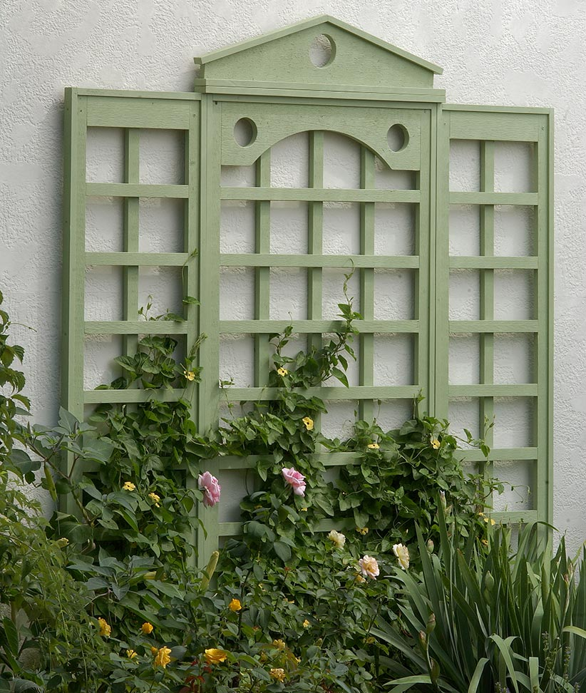 How To Attach A Trellis Wall