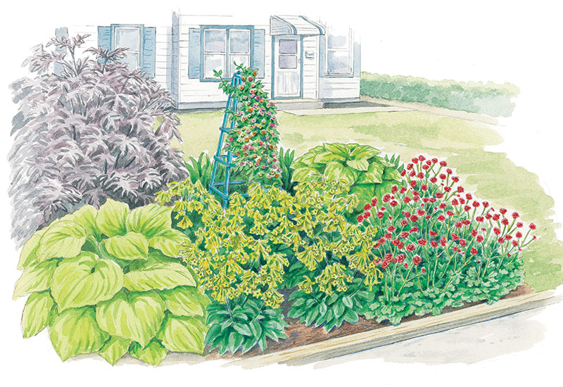 budget-friendly-garden-border-lead: This budget-friendly garden border is also low-maintenance.