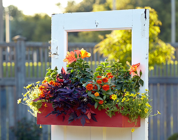 budget-friendly-upcycled-design-ideas-door-planter