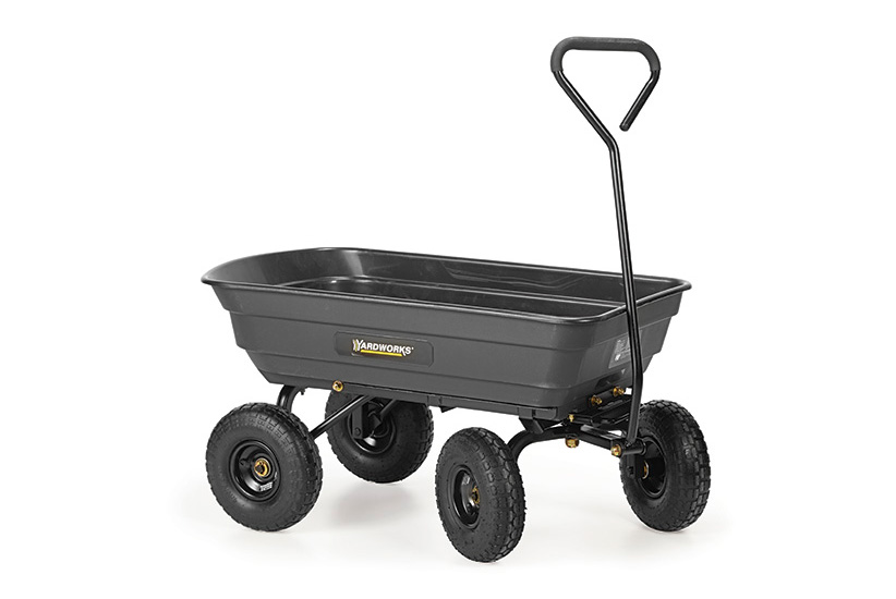 Graden Cart:Get a garden cart with solid sides and bottom for working with loose materials.