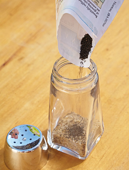 ht-ss-successfully-start-seeds-2: Storing seeds in spice jars is a great way to upcycle.