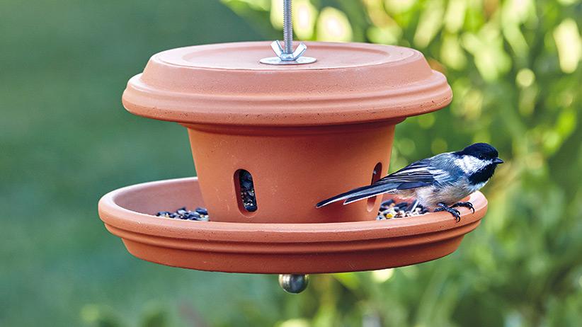 diy clay pot bird feeder DIY terra-cotta bird feeder  Garden Gate
