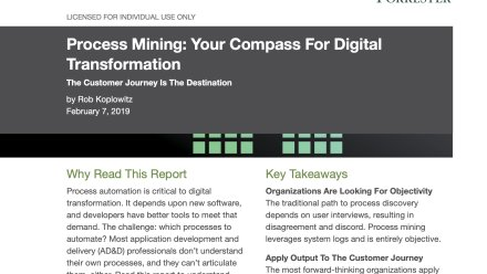 Report: Forrester - Process Mining: Your Compass For Digital Transformation