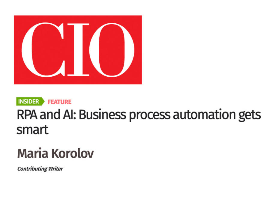 RPA and AI: Business process automation gets smart