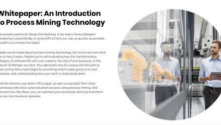 Whitepaper: An Introduction to Process Mining Technology - preview image